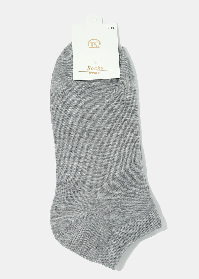 Solid Color Low-Cut Socks