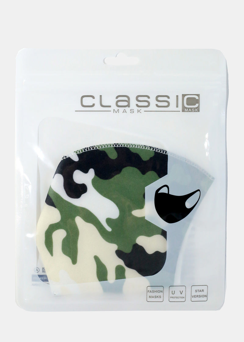 Adult Size Re-Usable Retro Print Face Mask