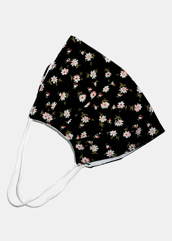 Small Flowery Adjustable Face Mask