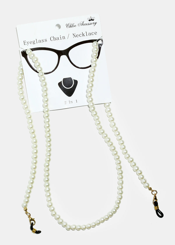 Pearl Beaded Eyeglass Strap