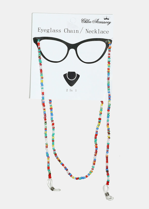 Beaded Eyeglasses Chain and Necklace