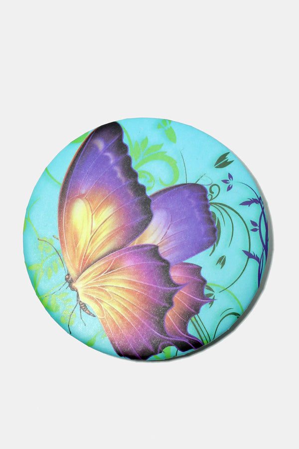 Butterfly Print Pocket Mirror