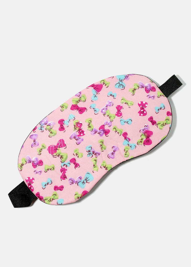 Bow Print Sleeping Eye Mask