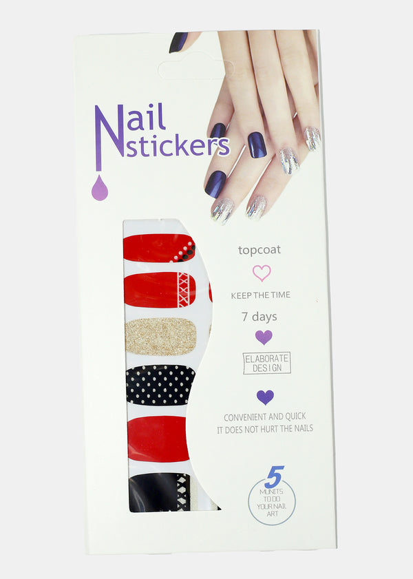 Retro Design Nail Stickers