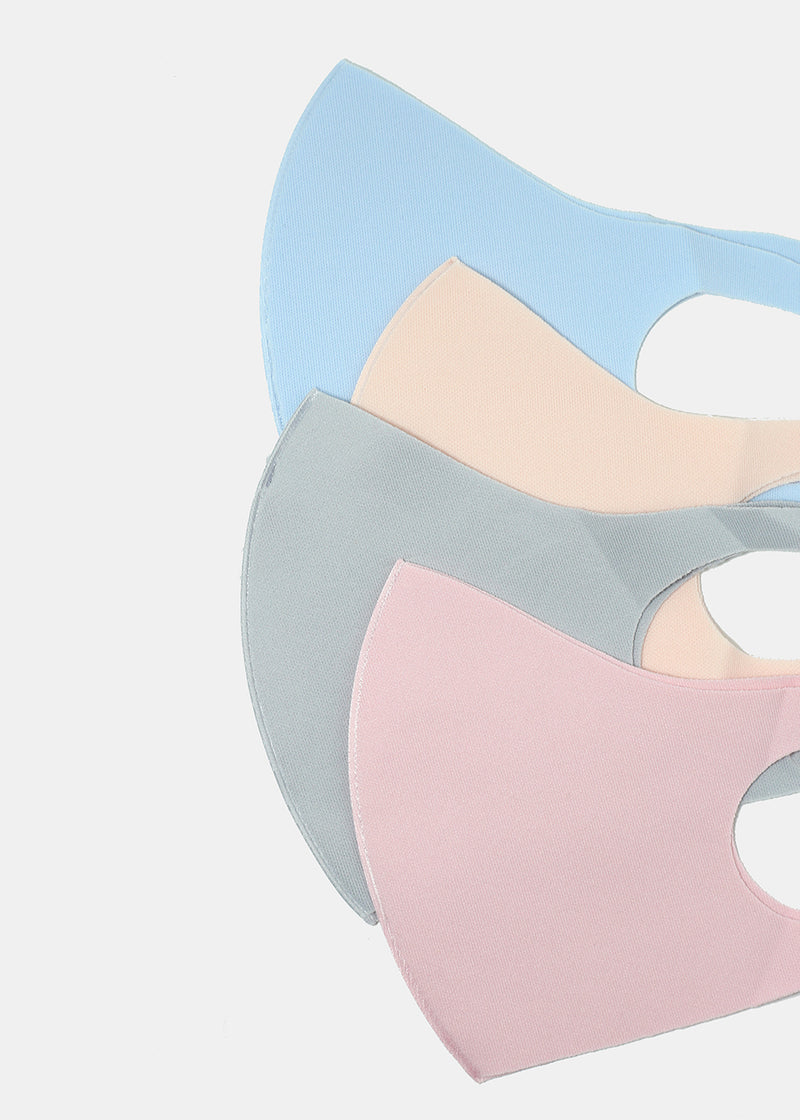 Adult Size Re-Usable Solid Color Face Mask