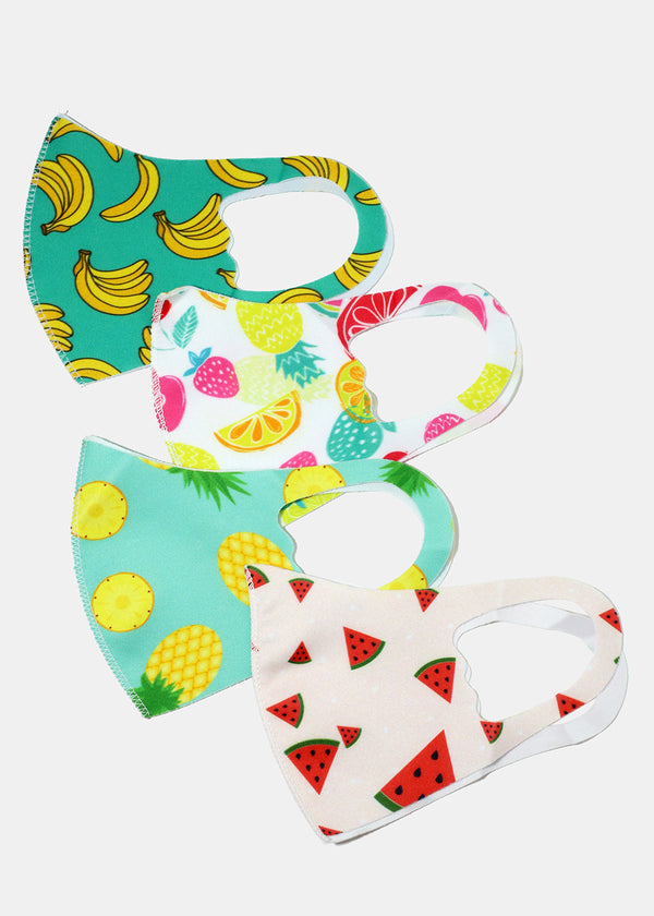 Fruity Print Kid's Face Mask
