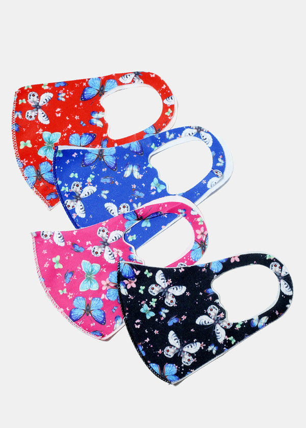 Butterfly Print Kid's Face Mask