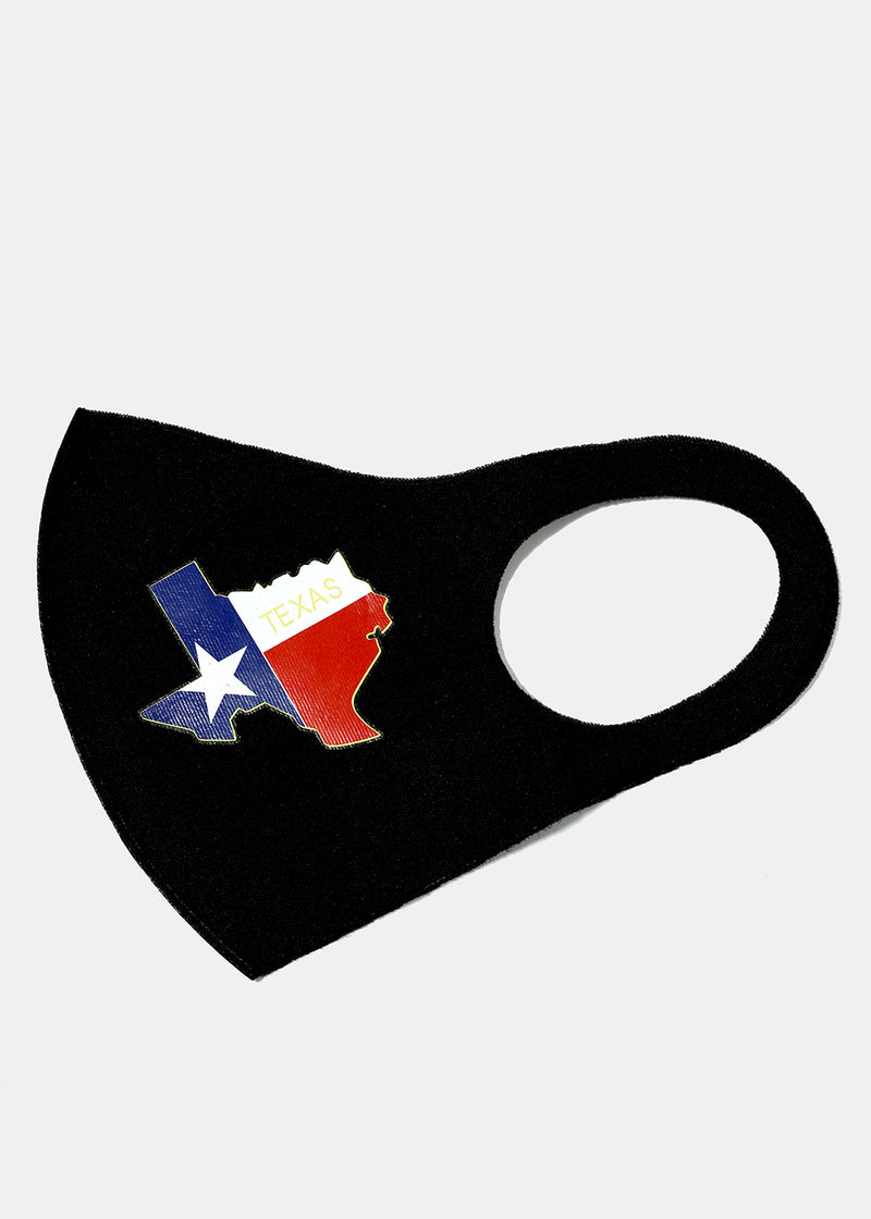 Adult Size Re-Usable Texas Face Mask