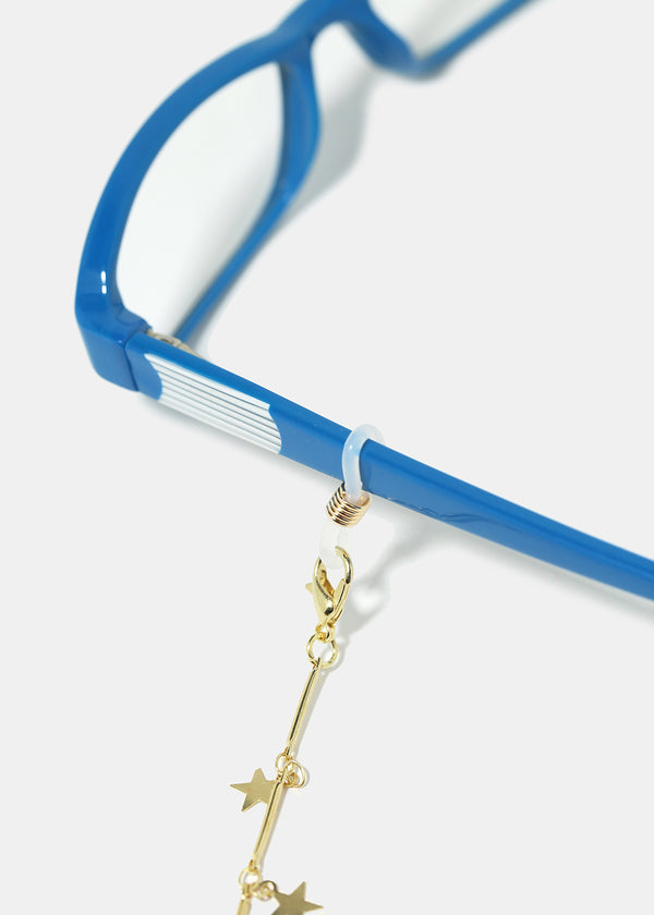 Glasses Chain Rubber Loops- Gold