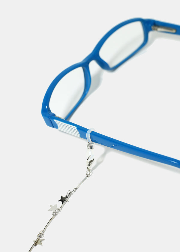 Glasses Chain Rubber Loops- Silver