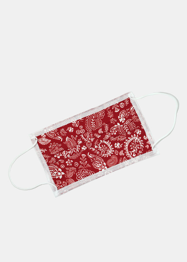Adult Size Re-Usable Paisley Print Face Mask