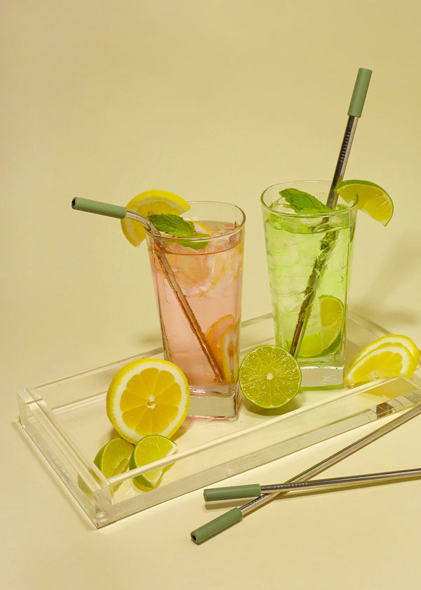 OKI ReUse Metal Straw: Long Bent