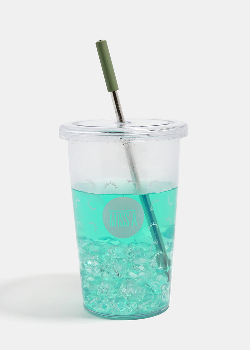 Official Key Items ReUse Metal Straw: Mint Short Straight