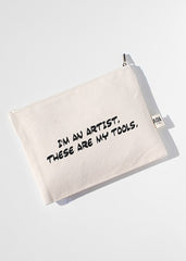 AOA Canvas Pouch- I am an Artist, These are My Tools