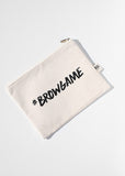 AOA Canvas Pouch- #BROWGAME