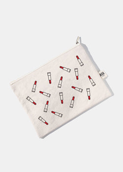 AOA Canvas Pouch- Red Lipstick