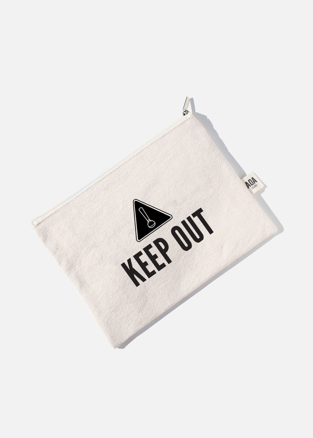 AOA Canvas Pouch- KEEP OUT