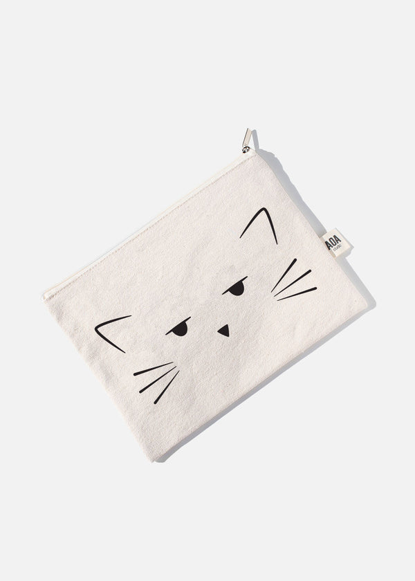 AOA Canvas Pouch - Cutie Cat