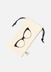 AOA Cat Eyeglasses Canvas Pouch