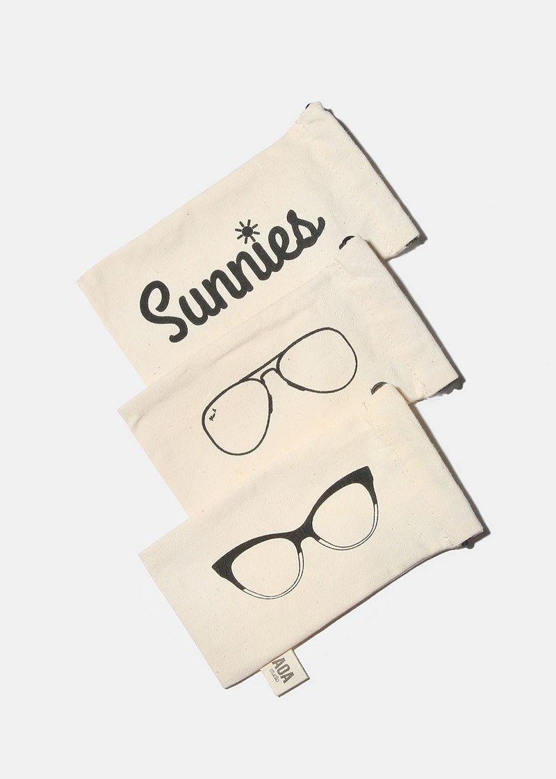 AOA Sunnies Canvas Pouch