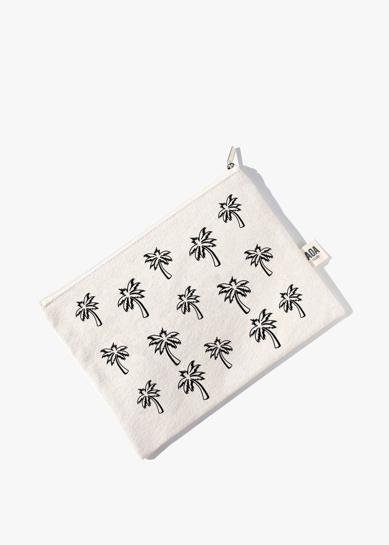 AOA Canvas Pouch - Palm Tree Sketch