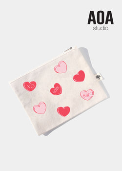 AOA Canvas Pouch - Hearts