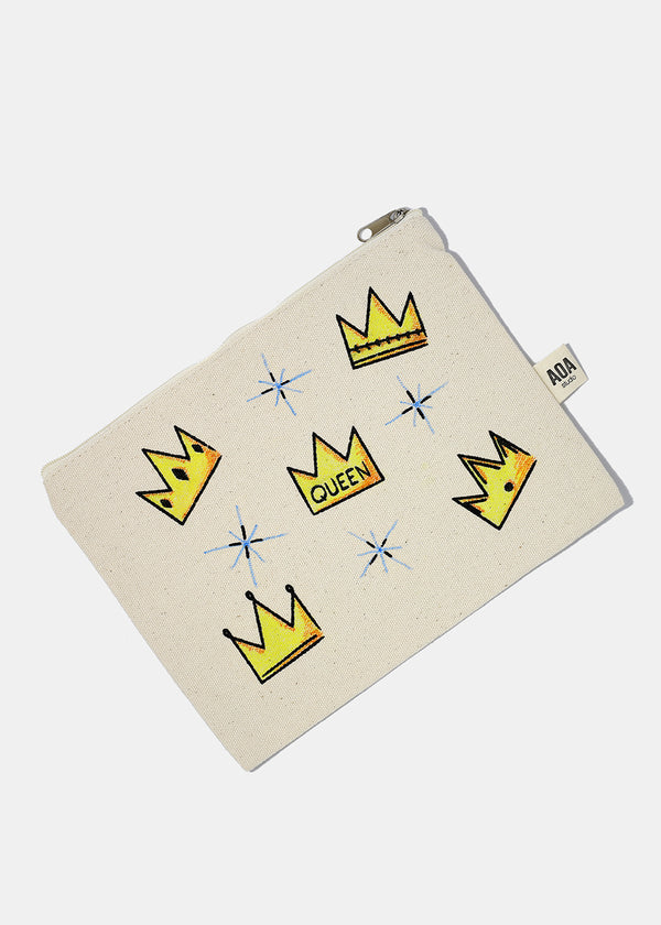 AOA Canvas Pouch - Crown