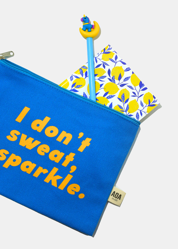 Re-Use Canvas Pouch - Sweat & Sparkle