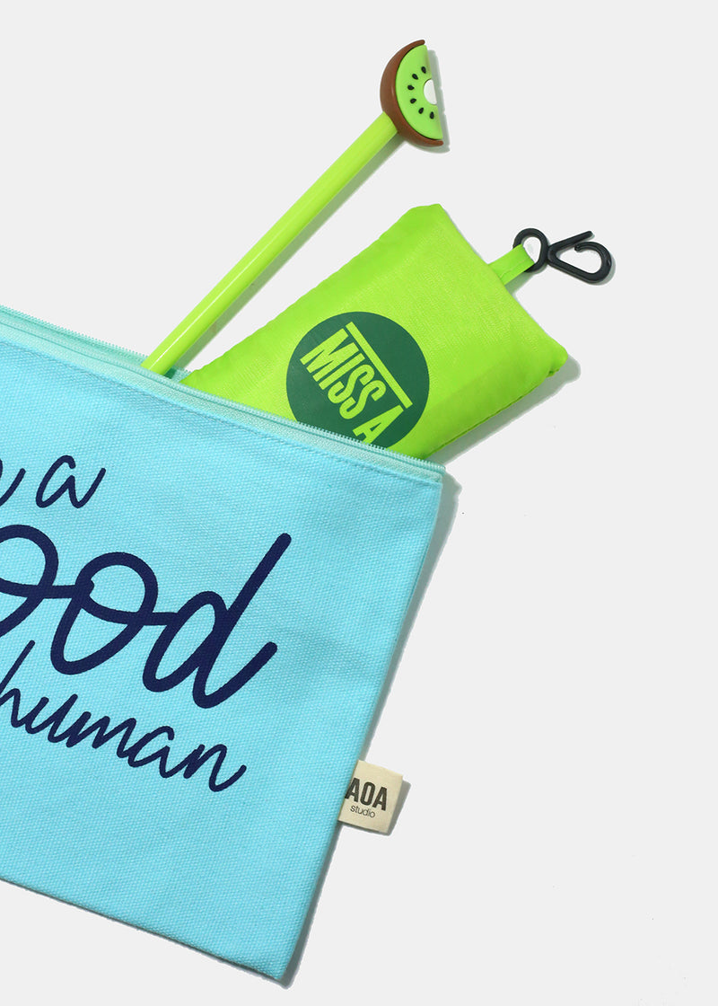 Re-Use Canvas Pouch - Good Human