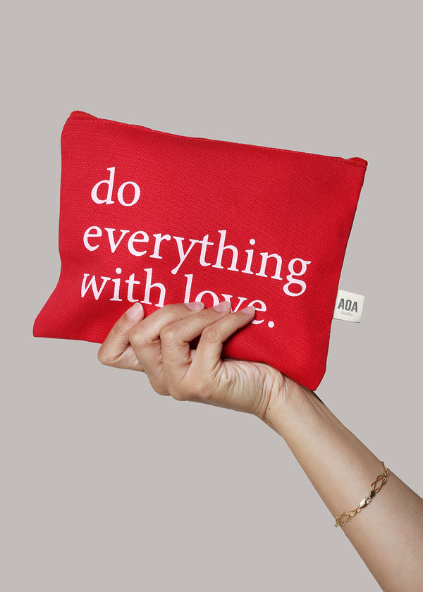 Re-Use Canvas Pouch - Everything Love