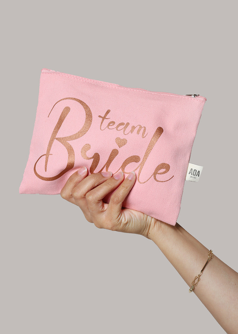 Re-Use Canvas Pouch - Team Bride