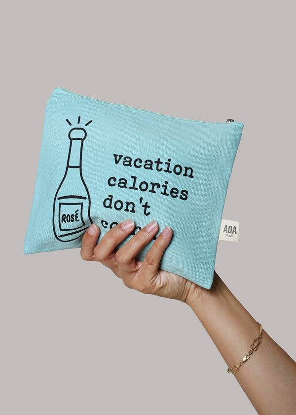 Re-Use Canvas Pouch - Vacation Calories