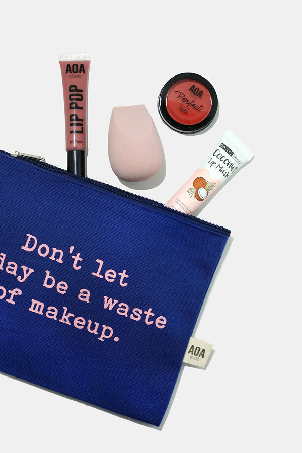 Re-Use Canvas Pouch - Today's Makeup