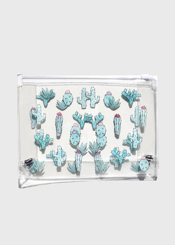 AOA Clear Makeup Pouch - Cactus