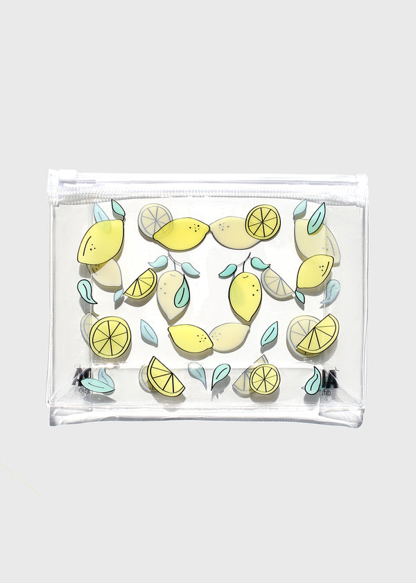 AOA Clear Makeup Pouch - Lemons