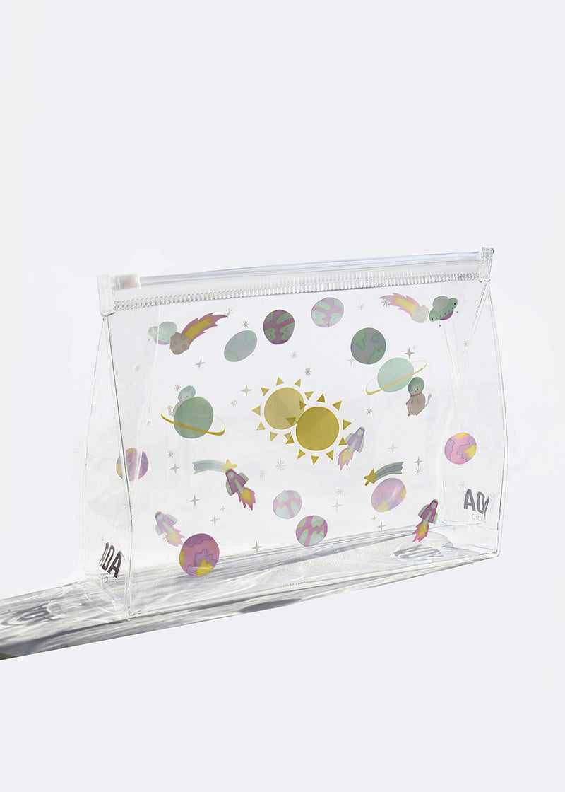 AOA Clear Makeup Pouch - Galaxy