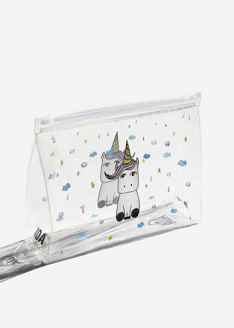 AOA Clear Makeup Pouch - Unicorn
