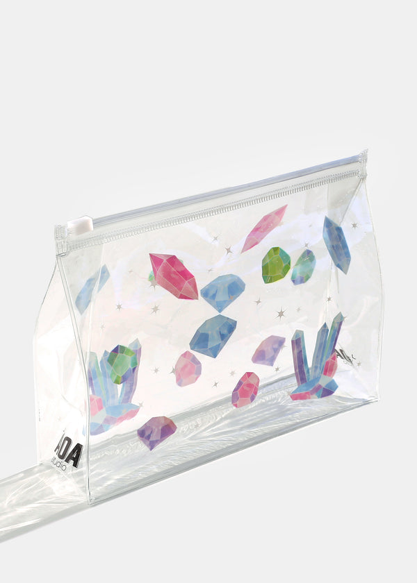 AOA Clear Makeup Pouch - Crystal Healing