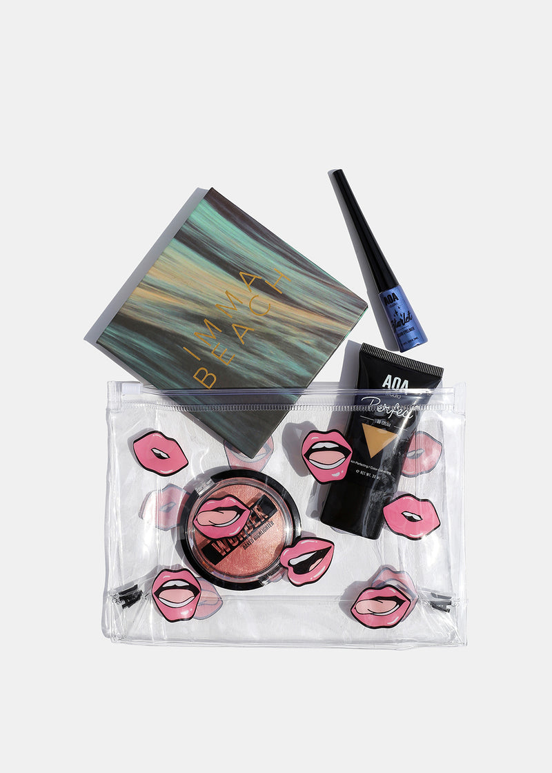 AOA Clear Makeup Pouch - Pink Lips