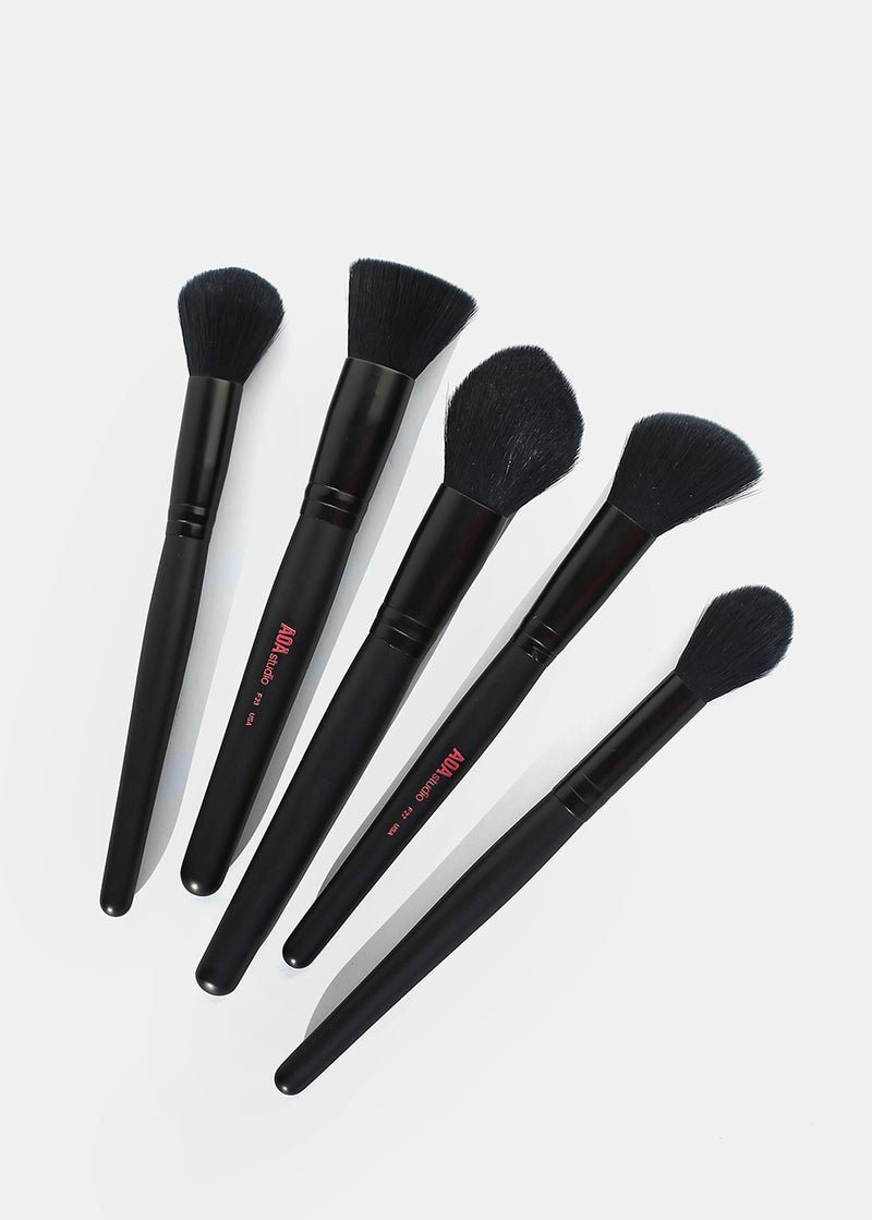 10-Piece Plush Faux Mink Brush Set