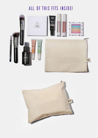 AOA Canvas Pouch - I Wake Up For Makeup