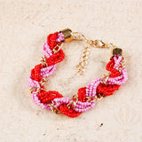 Twsited Bead Chain Bracelet