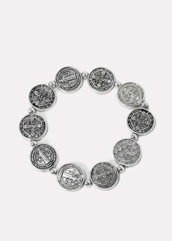 St. Benedict Coin Stretch Bracelet