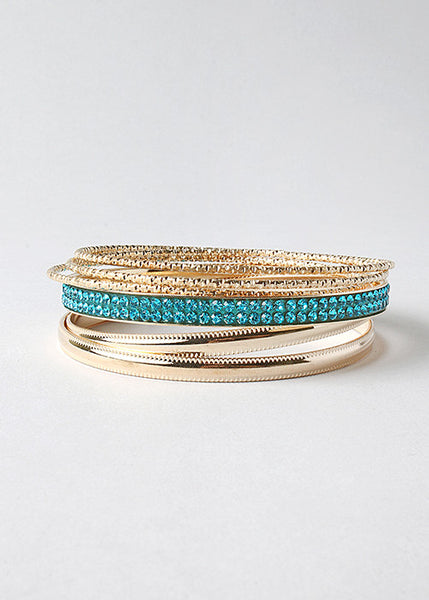6 Piece Glitzy Bangle Set
