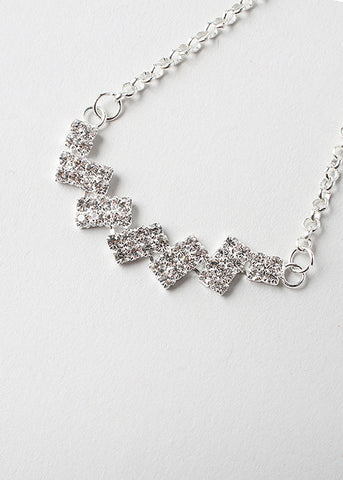 Stacked Rhinestone Chain Anklet