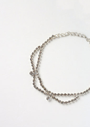 Rhinestone Looped Anklet