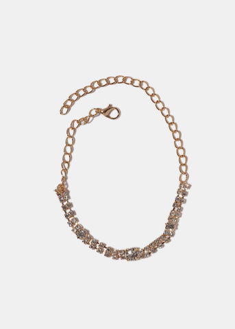 Round Gemstone Chain Anklet
