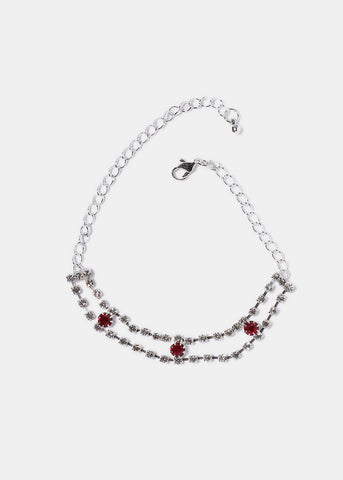 Double Row Rhinestone Anklet