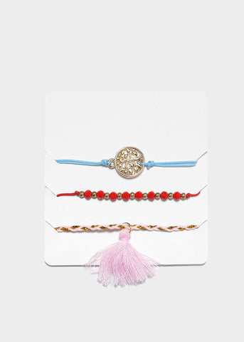 3 Piece Tassel Bracelet Set