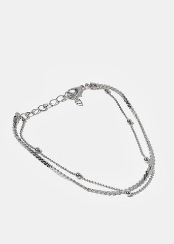 Thin Multi Chain & Ball Anklet